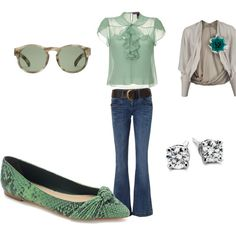 mint coolness, created by samshe on Polyvore