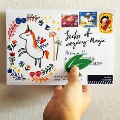 Seeker of everyday magic! ✨✨✨✨ . . #unicorn #magic #everydaymagic #happymail #handwritten #handdrawn #doodle #handwrittenwordsarethebest #snailmail #snailmailrevolution #snailmaillove #snailmailart #writemoreletters #sendmoremail #sendmylove #letter #letterlove #letterart #postal #stamp #friendsacrosstheworld #penpals #outgoingmail #travel #stationery