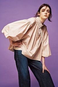 【ELLE SHOP 7周年限定】バルーンスリーブブラウス ラドロー/LUDLOW Blouse Dress, Ruffle Blouse, Patchwork Dress, Shirt Blouses, Shirts, Loose Tops, Blouses For Women, Style Me, Cool Outfits