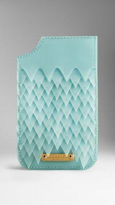 iPhone 5/5s Case in Deerskin and Vinyl with Ruffles