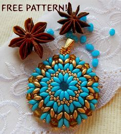Free pattern for beaded pendant Cinnamon | Beads Magic