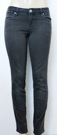 "KUT FROM THE KLOTH Women's Gray Skinny Jeans Size 4 (Waist 30"") #KUTfromtheKloth #SlimSkinny"