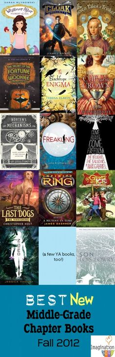 Kinda old for these books, but I may check them out! Ha! Our school library hasn't been able to order new books for several years due to budget cuts....but I need to get some of these for my classroom.....Huge roundup with reviews -- The BEST, NEW Chapter Books for Fall 2012 #kids #books