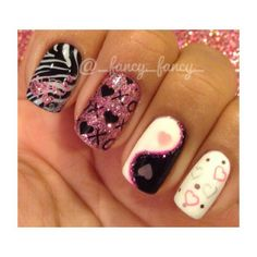 Valentines Day Nails   See more nail designs at http://www.nailsss.com/acrylic-nails-ideas/2/