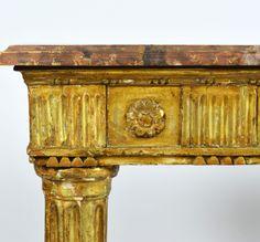 An Italian Late 18th Century Giltwood Console Table | Decorative Arts & Fine Antiques - DAFA