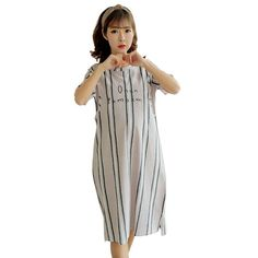 f01b090207 Cotton Maternity Sleepwear dresses for pregnant Women Pajamas Nursing Wear  Clothing Breast Feeding Nursing Clothes Nightgown