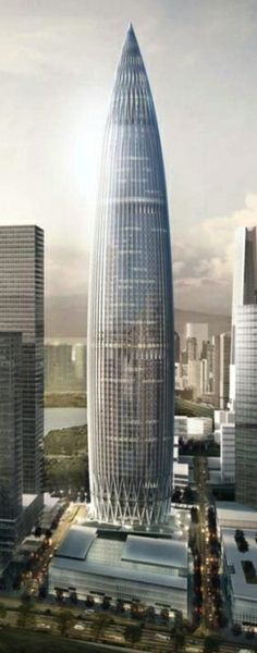 China Resources Headquarters Shenzhen Bay, Shenzhen, China by Kohn Pedersen Fox Associates :: height 400m