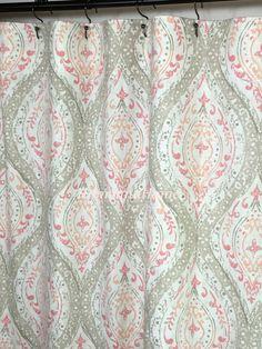 Tan And Gray Shower Curtain. Baltic Linen 72 Inch x 72 Inch Yarn ...