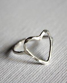 Open heart ring