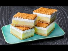 Átalakítottam a kekszet a legjobb vanília krémes desszertté| Ízletes TV - YouTube No Cook Desserts, Apple Desserts, Dessert Recipes, Mini Tortillas, Biscuits, Vanilla Cake, Creme, Cheesecake, Deserts