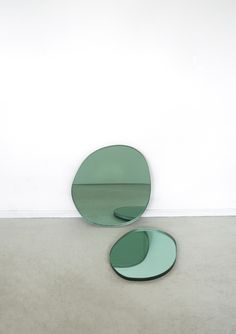 Available for sale from Etage Projects, Sabine Marcelis, Brit Van Nerven, Off Round Seeing Glass Mirror Green Glass, 45 × 38 × cm Art Abstrait, Installation Art, Art Direction, Color Inspiration, Decoration, Contemporary Art, Instagram, Furniture, Glass Mirrors