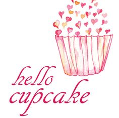 Hello Cupcake by Susan on Etsy