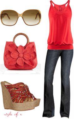usualmente no me gusta el rojo pero este outfit esta muy lindo