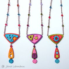 Untitled polymer clay necklaces | Jana Lehmann / feeliz via Flickr