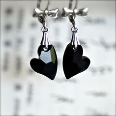My Sweetheart Earrings  Swarovski Crystal by blackpersimmons, $19.00