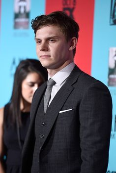 Evan Peters Photos - Actor Evan Peters attends FX's 'American Horror Story: Freak Show' premiere screening at TCL Chinese Theatre on October 2014 in Hollywood, California. - 'American Horror Story: Freak Show' Screening Evan Peters, Jimmy Darling, Kyle Spencer, Peter Maximoff, Jamie Campbell Bower, Hot Hunks, Celebs, Celebrities, American Horror Story