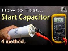 How to Test Motor Start and Motor Run AC Capacitor of ac fan and compressor - YouTube