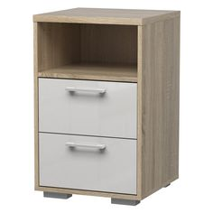 The Tvilum Homeline 2 Drawer Nightstand is designed in contemporary fashion with a minimalist look from top to bottom and sleek metal hardware. 2 Drawer Nightstand, Nightstands, Bedroom Night Stands, City Living, Engineered Wood, Filing Cabinet, Bedroom Furniture, Drawers, Contemporary