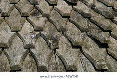 Shingle roof at a Viking house from Trelleborg Slagelse Denmark                                                                                                                                                                                 More