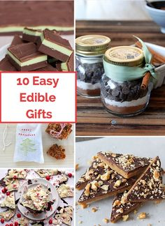 Easy and delicious edible holiday gifts to make with the kids.