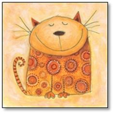 this could be a laurel burch cat lesson