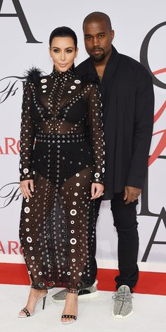 Kim Kardashian's Baby Bump Makes Its Red Carpet Debut at the CFDA Awards from #InStyle