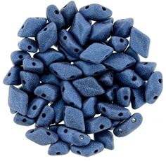 379-85-79031 GEMDUO 8x5mm : Metallic Suede - Blue