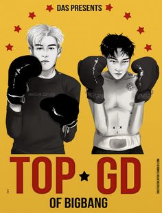 GD&TOP // inspired by Warhol x Basquiat poster