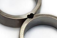 Weiteres - Herz Hochzeitsringe, Liebesring, Ehering gesetz... - ein Designerstück von CADIjewelry bei DaWanda