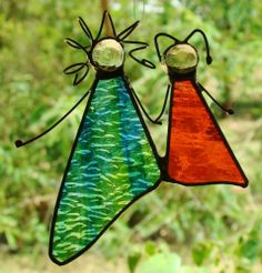 Children OF THE Light Stained Glass Suncatcher Orange Blue Green Real Leadlight | eBay  FREE SHIPPING $29
