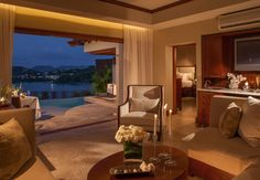 The luxurious Sunset Oceanview Bluff Millionaire Butler Villa Suite with Private Pool Sanctuary | Sandals Resorts | St. Lucia