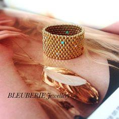 Peyote Ring klobigen Ring klobig und moderne Peyote von Bleuberie