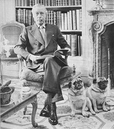 The Duke of Windsor and his pugs