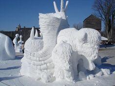 Winnipeg snow sculpture