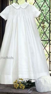 Simple baptismal gown that is ideal for boy or girl