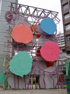 """""""Big Painting Sculpture"""" by Patrick Heron, 1998, Stag Place, London"""