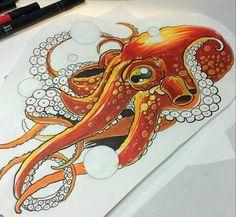 octopus-tattoo-page.jpg - octopus-tattoo-page. Octopus Tatoo, Octopus Drawing, Octopus Tattoo Design, Octopus Art, Tattoo Designs, Octopus Sketch, Octopus Colors, Octopus Illustration, Octopus Squid