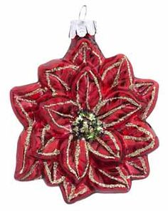 Ornaments As Symbols Of Christmas Part  In Series Poinsettia Merry Christmas Baby