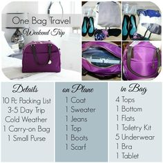 One Bag Travel: How to Pack for a Weekend Trip @hannahbelle_23 @jujulee