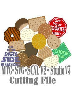 SVG Cut File Cookies Scout Snack Embellishment Cut Files MTC