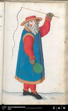 Nürnberger Schembart-Buch Erscheinungsjahr: 16XX  Cod. ms. KB 395  Folio 110