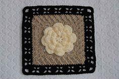 """Ravelry: Flower Girl - 12"""" Square pattern by Melinda Miller"""