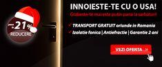 RED WEEK Campaign for EXTERIOR DOORS/ Promotie USI EXTERIOR. Cumpara usi de intrare in apartament si usi de intrare in  casa in Romania/ Buy exterior door in Romania. Red Week, Exterior Doors, Campaign, Outdoor Gates, External Doors