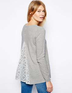 ASOS | ASOS Sweater With Lace Insert at ASOS