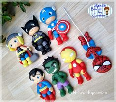 Fire Cake, Batman Art, Superman, Polymer Clay Figures, Pasta Flexible, Diy Pallet Projects, Baby Party, Cold Porcelain, Fondant
