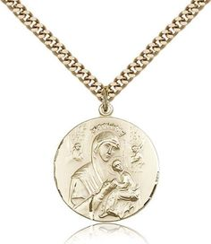 CB Vintage Blessing Two Toned Saint Benedict Medal Pendant Necklace for Woman or Girl on 16 Pearl Chain with Amber Swarovski Crystal Dangle