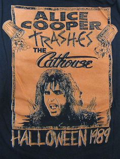Vintage Tshirt - Alice Cooper - The Cathouse Halloween 1989 XL RARE #vintage #tshirts #alicecooper | $99