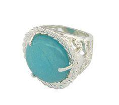 #Anel #folheado a prata, contendo uma pedra natural Água Marinha. - Código: AN0383 P - Preço 78,30 - Garantia de 1 ano. Compre em: www.imagemfolheados.com.br/?a=76729