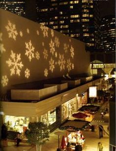 Outdoor Lighting Perspectives provides special event lighting including image projection and laser imaging systems