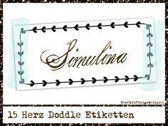 +Doddle+Herzen+Aufkleber,+herziger+Doddle+Rahmen,+von+SimulinaDigitalDesigns+auf+DaWanda.com